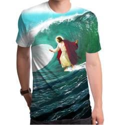 Image for Surfs Up Jesus Sublimated T-Shirt