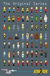 Image for Star Trek Poster - 8 Bit