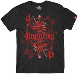 Image for Deadpool Playing Card Ambigram T-Shirt
