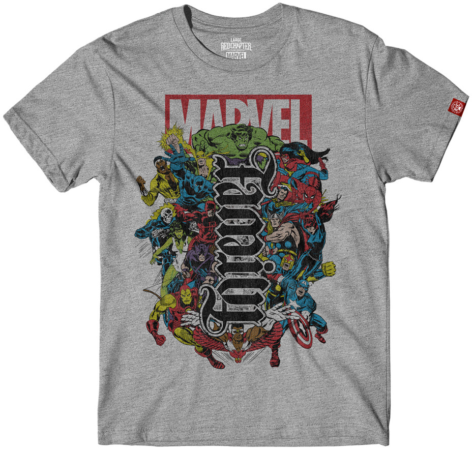 464d7581f Marvel Family Forever Ambigram T-Shirt. Loading zoom. Hover over image to  zoom