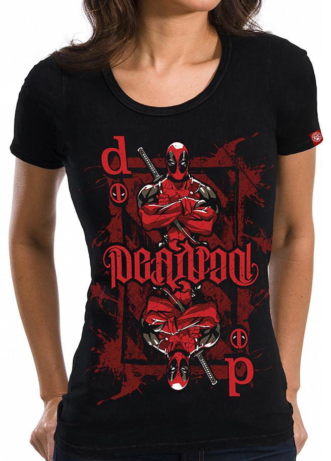 7ea80fd4 Deadpool T-Shirt - Ambigram Playing Card Girls - NerdKungFu