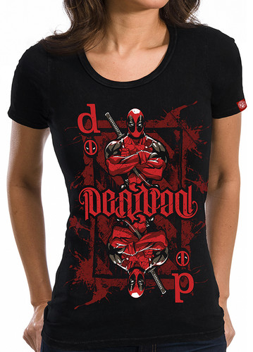 Image for Deadpool Juniors T-Shirt - Ambigram Playing Card
