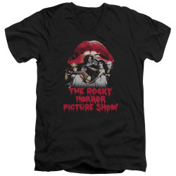 Image for Rocky Horror Picture Show V Neck T-Shirt - Casting Throne
