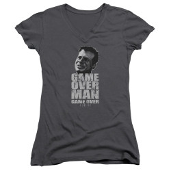 Image for Aliens Girls V Neck - Game Over Man Game Over