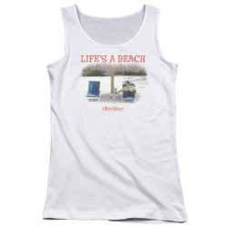 Image for Office Space Girls Tank Top - Life's a Beach