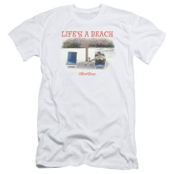 Image for Office Space Premium Canvas Premium Shirt - Life's a Beach