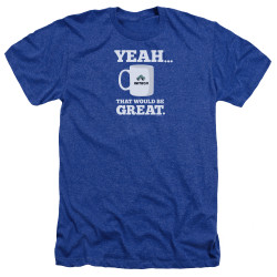 Image for Office Space Heather T-Shirt - Yeah...That Would Be Great