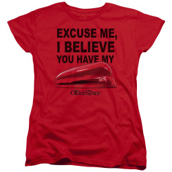 Image for Office Space Womans T-Shirt - Excuse Me, I Believe You Have My Stapler