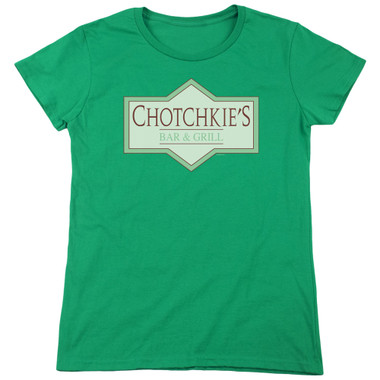 Image for Office Space Womans T-Shirt - Chotckie's Bar & Grill Logo