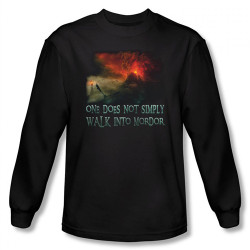 Image for Lord of the Rings Walk into Mordor Long Sleeve T-Shirt