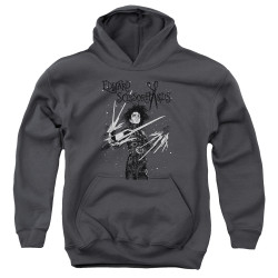 Image for Edward Scissorhands Youth Hoodie - Snowy Night