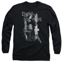 Image for Edward Scissorhands Long Sleeve Shirt - Caroon Hello