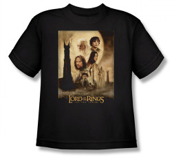 Image for Lord of the Rings Youth T-Shirt -Two Towers Poster