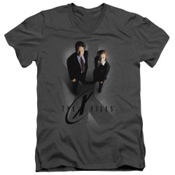 Image for The X-Files V Neck T-Shirt - X Marks the Spot