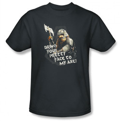 Image Closeup for Lord of the Rings Bring Your Pretty Face to My Axe! T-Shirt