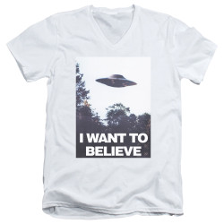 Image for The X-Files V Neck T-Shirt - Believe Poster