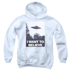Image for The X-Files Youth Hoodie - Believe Poster