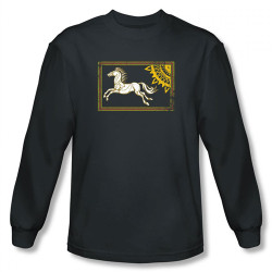 Image for Lord of the Rings Rohan Banner Long Sleeve T-Shirt