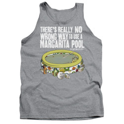 Image for Last Man on Earth Tank Top - There's No Wrong Way to Use a Margarita Pool