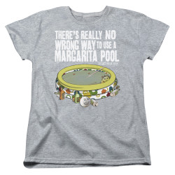 Image for Last Man on Earth Womans T-Shirt - There's No Wrong Way to Use a Margarita Pool