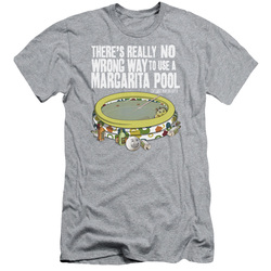Image for Last Man on Earth Premium Canvas Premium Shirt - There's No Wrong Way to Use a Margarita Pool