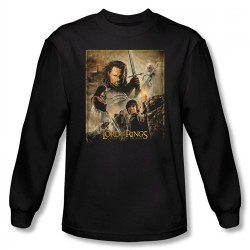 Image for Lord of the Rings Return of the King Poster Long Sleeve T-Shirt