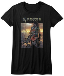 Image for Bionic Commando Girls T-Shirt - the World Burns