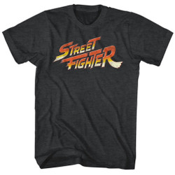 Image for Street Fighter Logo Heather T-Shirt