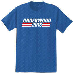 Image for House of Cards Heather T-Shirt - Underwood 2016