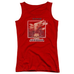Image for ZZ Top Girls Tank Top - Deguello Cover
