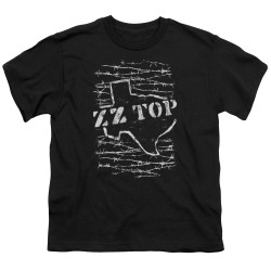 Image for ZZ Top Youth T-Shirt - Barbed