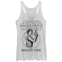 Image for Star Wars Rogue One Womens Tank Top - Jyn Outline