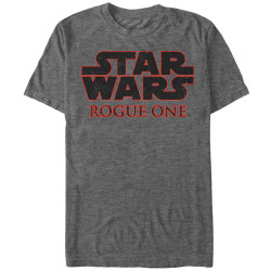 Image for Star Wars Rogue One Basic Logo Heather T-Shirt