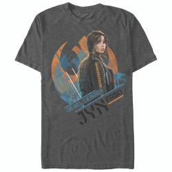 Image for Star Wars Rogue One Jyn Symbol Heather T-Shirt
