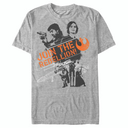 Image for Star Wars Rogue One Enlist Now Heather T-Shirt