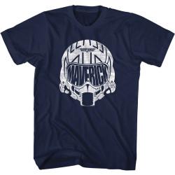 Image for Top Gun T-Shirt - White Maverick Helmet