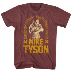 Image for Mike Tyson Heather T-Shirt - Undisputed