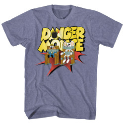 Image for Danger Mouse Heather T-Shirt - Chair Strapped