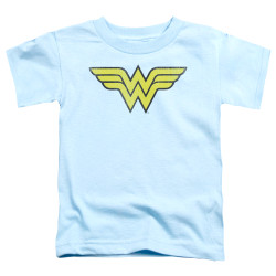 Image for Wonder Woman Logo Distressed Toddler T-Shirt