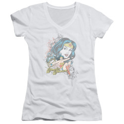 Image for Wonder Woman Girls V Neck - Wonder Scroll
