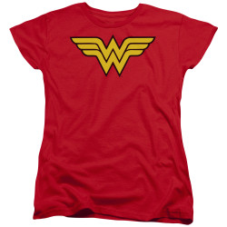 Image for Wonder Woman Womans T-Shirt - Classic Logo