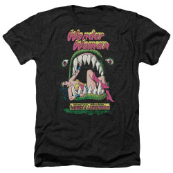 Image for Wonder Woman Heather T-Shirt - Jaws of the Leviathon