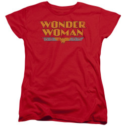 Image for Wonder Woman Womans T-Shirt - Distressed Title Logo