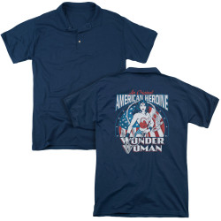 Image for Wonder Woman Polo Shirt - American Heroine
