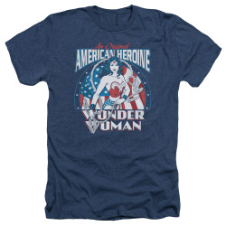 Image for Wonder Woman Heather T-Shirt - American Heroine