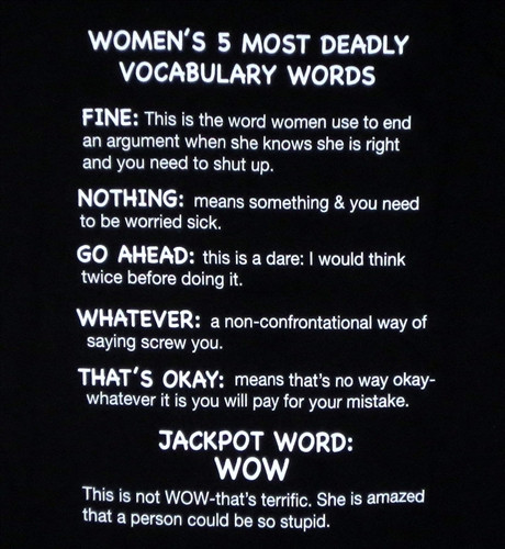 Women's 5 Most Deadly Vocabulary Words T-Shirt