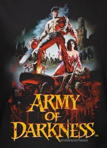 Horror Movie Army Of Darkness Bloody Poster T Shirt Nerdkungfu