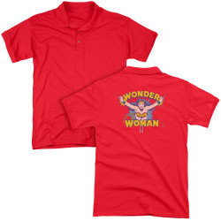 Image for Wonder Woman Polo Shirt - Flying Through