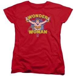 Image for Wonder Woman Womans T-Shirt - Flying Through