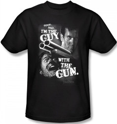 Image Closeup for Army of Darkness T-Shirt - I'm the Guy With The Gun